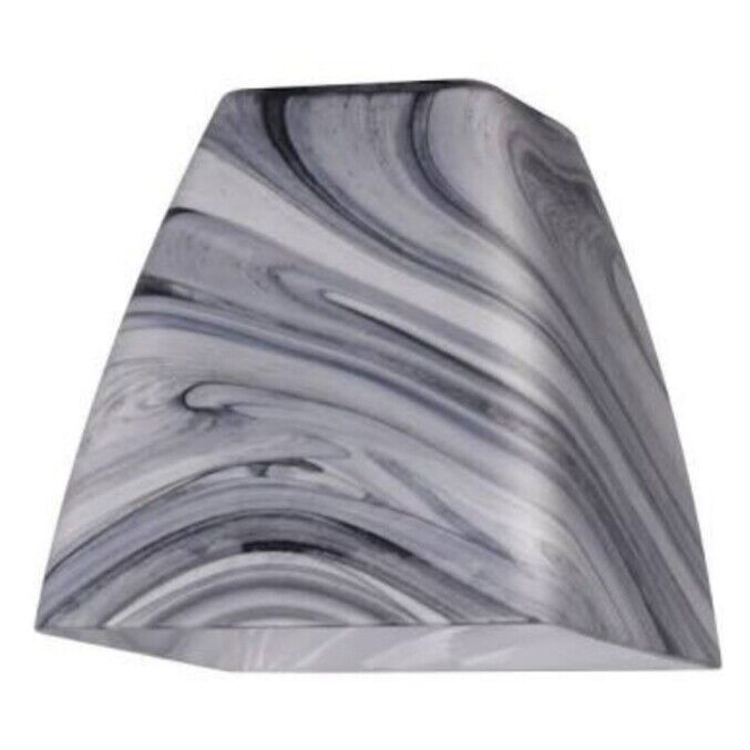 Westinghouse 8501200 - 2-1/4 Inch Charcoal Gray & Black Swirl Cubic Dome Shade