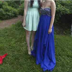 Royal blue Prom dress used once and cleaned