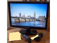 """Samsung (T240HD) 24"""" Widescreen LCD TV WITH REMOTE CONTROL"""