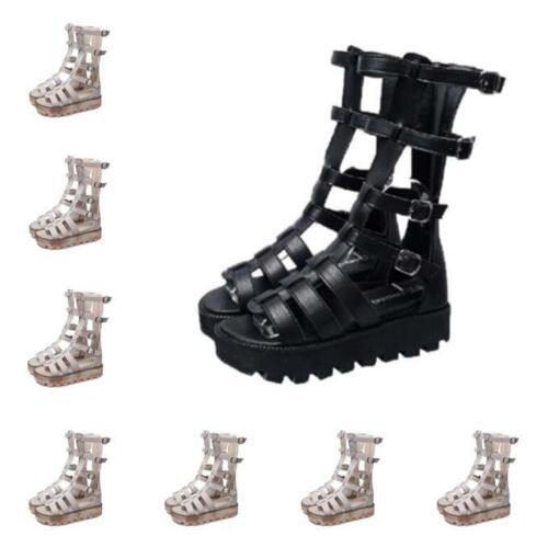 11CM Sandalen 35-41 Damen Schuhe Keilabsatz Schlappen Zehentrenner Dick Absatz