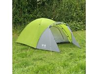3 Person Dome Tent with Inflatable Double Mattress