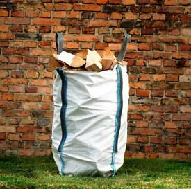 BARROW BAG KILN DRY HARDWOOD LOGS BIRCH ASH OAK £40 INC FREE LOCAL DELIVERY