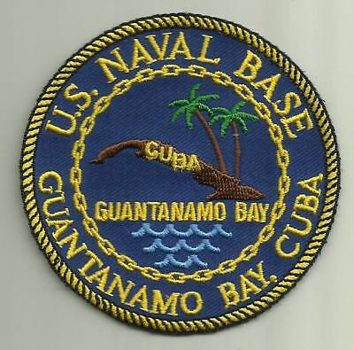 U.S. NAVAL BASE GUANTANAMO BAY CUBA U.S.NAVY PATCH GITMO SAILOR USMC SOLDIER