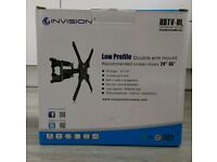 Top rated double arm tilting HD TV cantilever wall mount