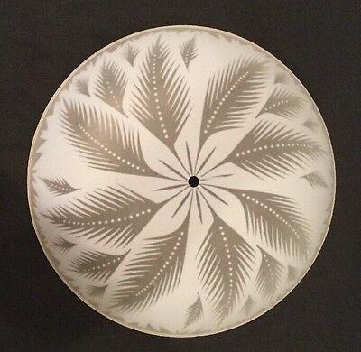 Vintage Ceiling Light Fixture Cover Frosted Glass, Flower Leaf Design, 13.5 Inch