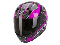 New Scorpion EXO-410 Rad Pink Motorcycle Helmet