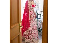 Gorgeous Indian bridal wedding gown UK size 8-10