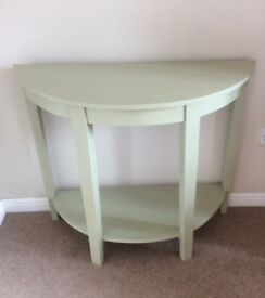 Painted Half Moon Hall/ Console Table