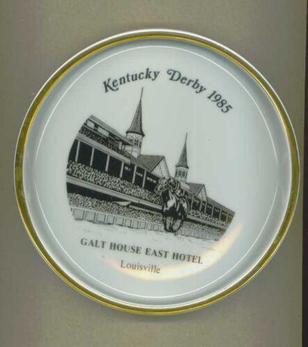 1985 Kentucky Derby Galt House East Hotel Louisville Collector Plate Dish