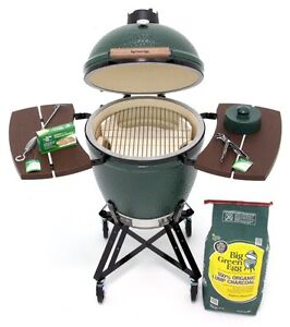 Large big green egg nest stand and wooden shelves