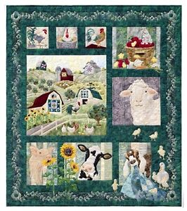 AND-ON-THAT-FARM-McKenna-Ryan-CHOOSE-A-PATTERN-NEW-Quilt-Applique-Blocks