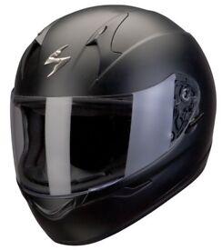 Brand New Scorpion EXO-410 Solid Black Helmet