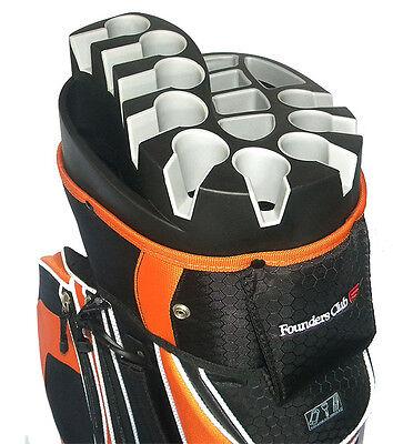 Founders Club Premium Cart Bag with 14 Way Organizer Top - Orange ()
