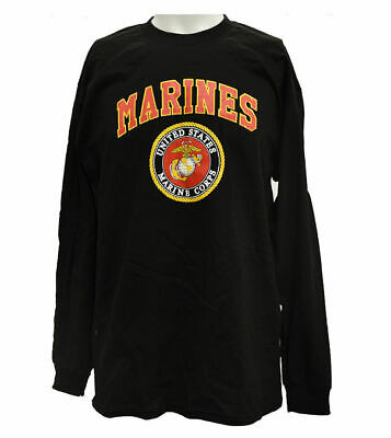 Alstyle Rags & Activewear Men's T-Shirt U.S. Marine Corps in Black - Large