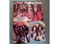 Kiss - USA Grooves magazines 4 issues including issue 1 from 1978/79
