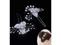 One set Pearl and flower style hair Accessories for events, Party and wedding.
