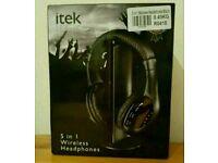 New itek 5 in 1 wireless Headphone