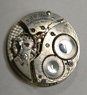 1907 Waltham No. 220 12S 15j Pocket Watch Movement Non-Running