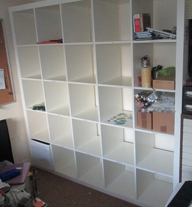 ikea expedit shelving unit white cube unit expedit 5x5 shelving cube storage room divider. Black Bedroom Furniture Sets. Home Design Ideas