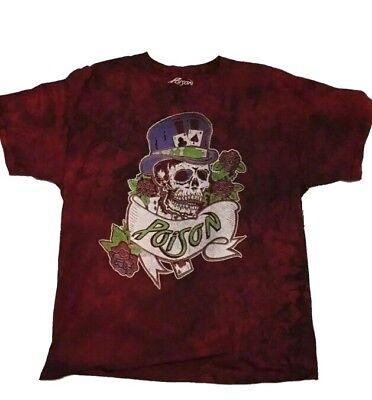 Rock Band Poison Shirt ,Dragging the Cat Across America 1987 Tour, Bret Michaels ()