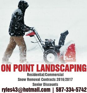 Snow Removal with On Point Landscaping Edmonton Edmonton Area image 1