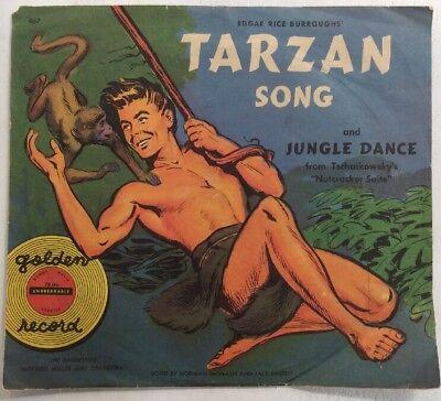 "Tarzan Song Jungle Dance 78 RPM 7"" Yellow Record Tchakovsky Nutcracker Suite"