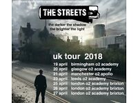 2 Tickets to The Streets O2 Glasgow
