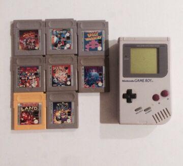 Nintendo Nes original game boy with 8 games Nundah Brisbane North East Preview