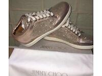 Jimmy choo metallic rose trainers size 4