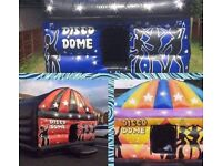 Bouncy castles , inflatables , slides , disco domes