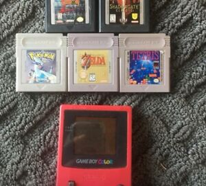 Game Boy Color - Berry with 5 Games