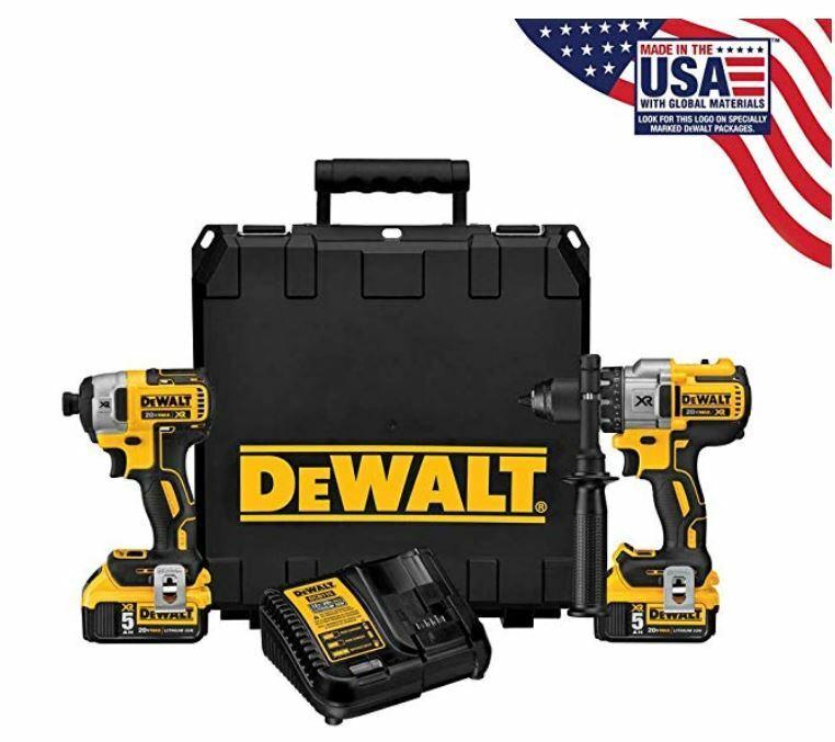 DEWALT DCK299P2 - 20V MAX XR 5.0Ah Premium Cordless Hammerdr