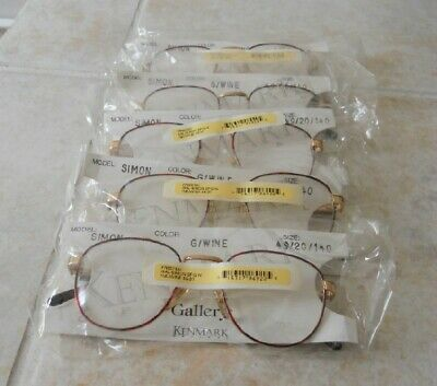 New GALLERY Gold/Wine SIMON Eyeglasses Frames Lot of (Gallery Glasses Frames)