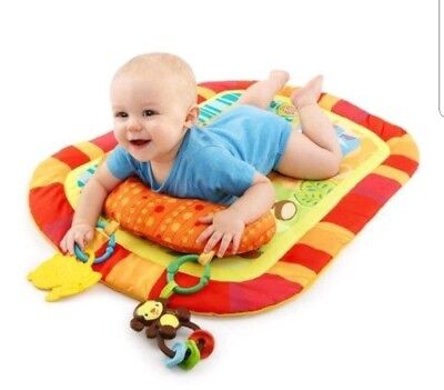 NEW BOX BABY PLAYMAT BRIGHT STARTS SAFARI ADVENTURES TUMMY PLAY FLOOR ACTIVITY