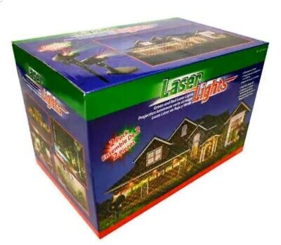 Pre Laser Lights Projection Red + Green Color for Indoor Outdoor Christmas Decor ()