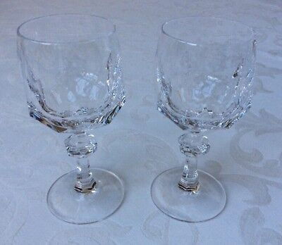 2 Weißwein Gläser Nachtmann Alexandra 13 cm Vintage Blei Kristallglas ()