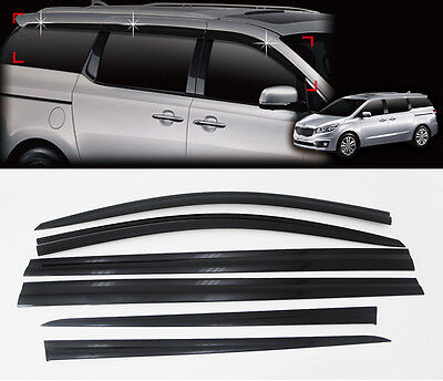 Smoke Wind Rain Window Sun Visor Vent 6p for 2015 2020 Kia Sedona Carnival