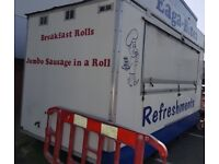 16ft Catering Trailer already sited and complete with all equipment including Dual fuel Generator
