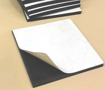 Neoprene Rubber Solid Sheet W Peel-back Adhesive 18thk X 8 X 12 Pad