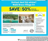 Hottest deal this winter! Meliá Braco Village in Montego Bay