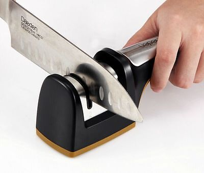 1PCS 2 Grooves 3mm Width Diamond+Special Ceramics Knife Sharpener Kitchen Tools