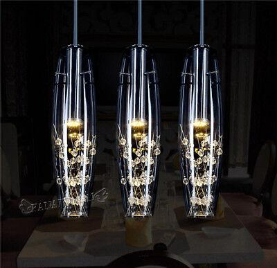LED Modern Glass Crystal Ceiling Light Kitchen Bar Pendant Lamp Bar Lighting  ()
