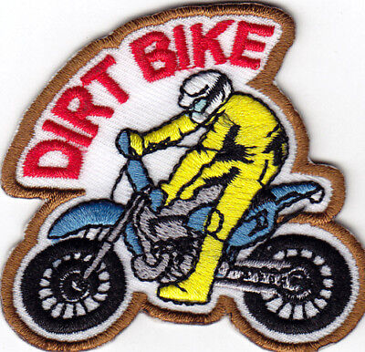 """DIRT BIKE"" Iron On Patch Sports Bikers Off Road"