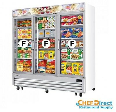 Everest Emgf69 75 Merchandiser 3 Glass Swing Door Freezer