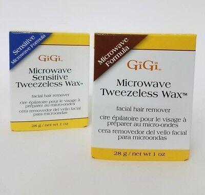 GiGi Microwave Tweezeless Wax Facial Hair Remover - Regular & Sensitive Formula ()