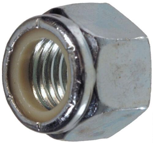 (10) M12-1.75 Or M12 Coarse Thread Nylon Insert Lock / Stop Nut Zinc Plated 8.8
