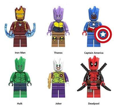 Joker Iron Man Captain America Hulk Thanos Dead Pool Building Blocks Avengers (Dead Pool Spielzeug)