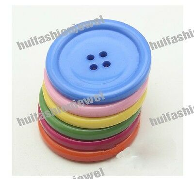 Bulk Lots 7color Extra large Size Resin scrapbook Coat sewing buttons Pick -