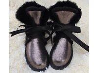 UUG Australian sheepskin holographic boots 38 UK 5 not EMU ZARA LV