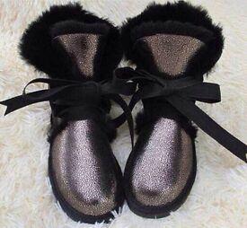 UUG Australian sheepskin holographic boots 38 5 not Louboutin LV Zara TopShop ASOS